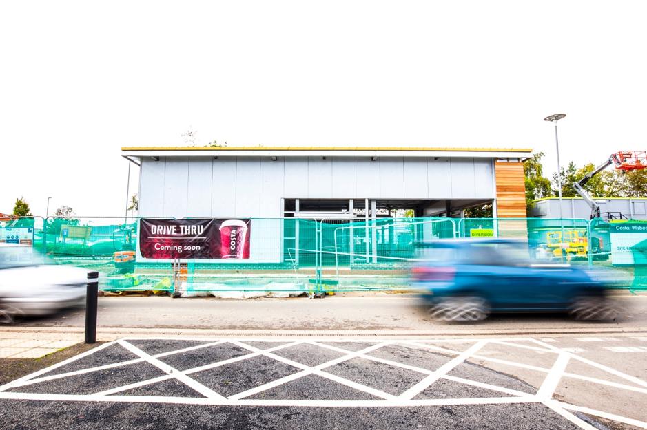نيابة عن مستثمريها، وتعزيزاً للاستثمار في Wisbech Retail Park، كوت كابيتال تستكمل بناء وحدة جديدة لكوستا كوفي